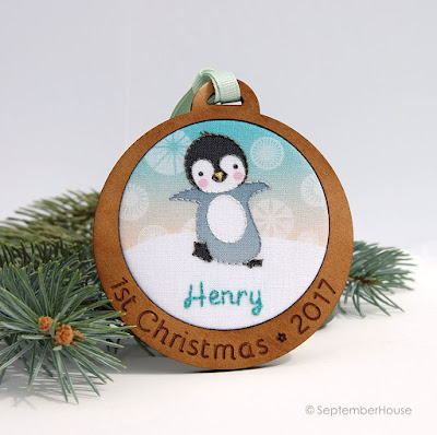 Baby's First Christmas Ornament Personalized Penguin Ornament by SeptemberHouse