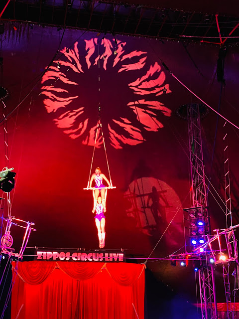 Double Trapeze Act The Gemini Sisters at Zippos Circus Love