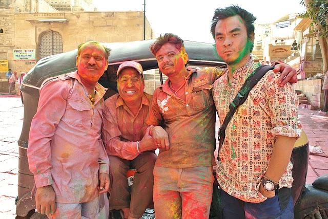 Marky Ramone Go during Holi Festival
