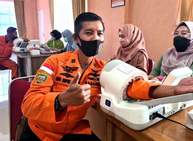 Seluruh Anggota Basarnas Tanjung Pinang Divaksinasi Covid-19 Tahap II