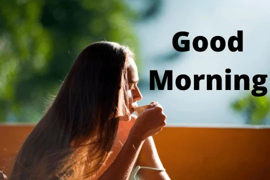 good morning images with a cute girl