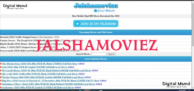 JalshaMoviez 2021 Download Latest Movies in HD, 1080p | Digital Msmd