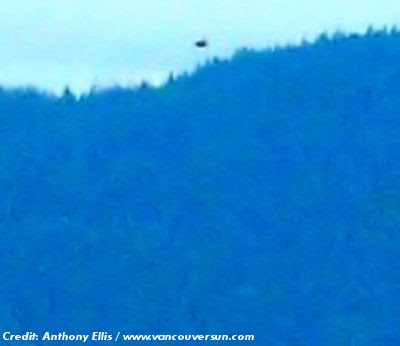 UFO Spotted Above North Shore Mountains; Amateur Photographer Snaps Photo 5-25-13
