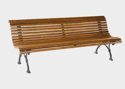 Banco de madera de listones modelo romantico