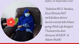 Elsa Vilinsia NST, Orang Tua Asuh Darah Pasien Thalasemia Mayor