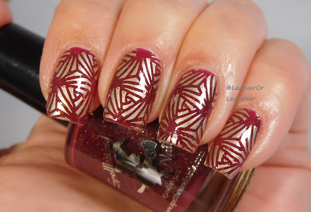 UberChic Beauty 20-03 over Spellbound Nails Merry & Bright