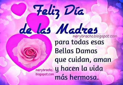 imagen linda tarjeta feliz dia de las madres