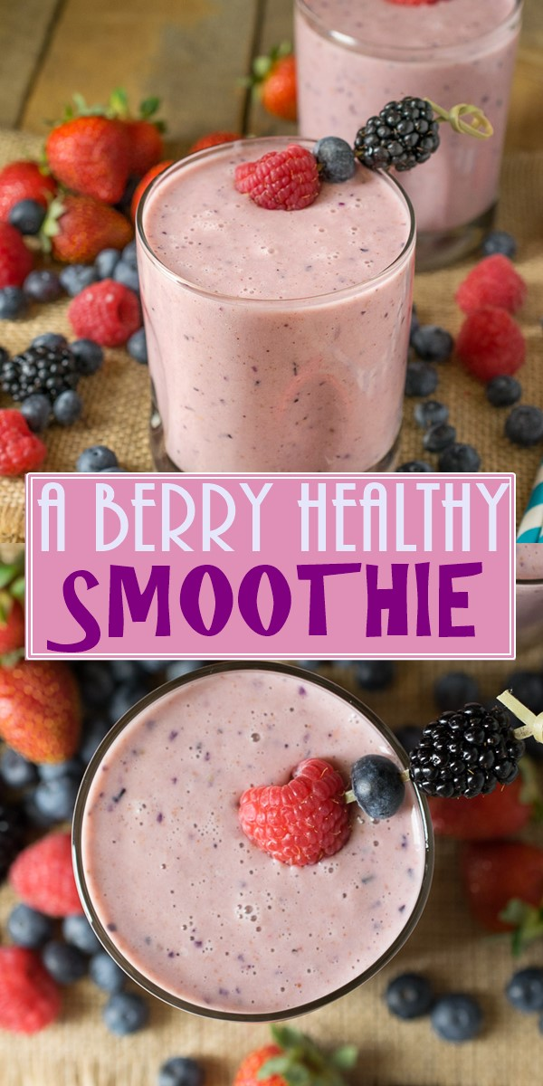 A BERRY HEALTHY SMOOTHIE #Smoothiesrecipes