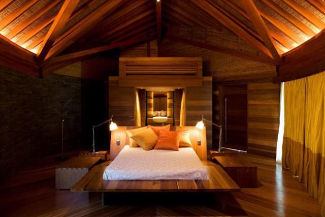 Một phòng ngủ của biệt thự