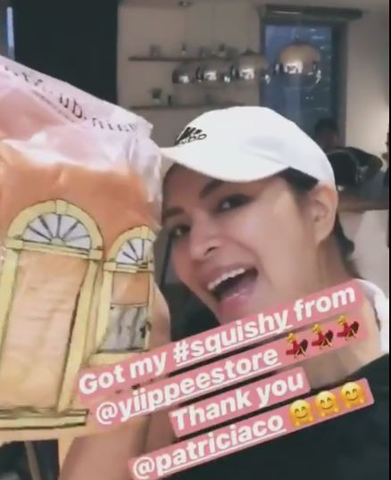 #HappyKiddo: Angel Locsin Jumps For Joy After Receiving Her Squishy!