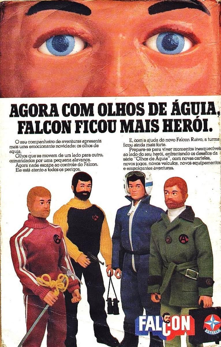 Nova linha de Bonecos Falcon com série de personagens que mexiam os olhos