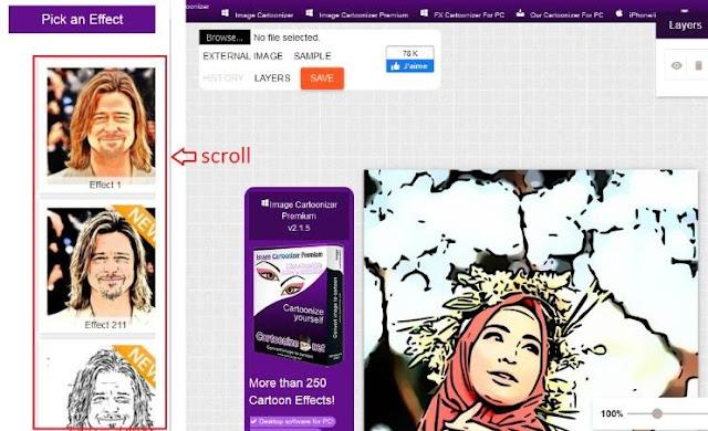 Cara Edit Foto Jadi Kartun Online Gratis 3
