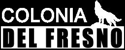 Logo Colonia del Fresno color blanco