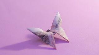 hướng dẫn cách gấp con bướm bằng tiền giấy đơn giản và đẹp