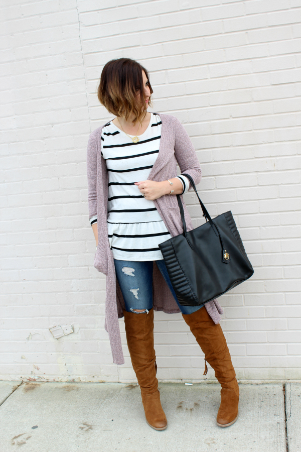 lularoe, how to style a sarah cardigan, how to style a carly dress, how to wear lularoe, style on a budget