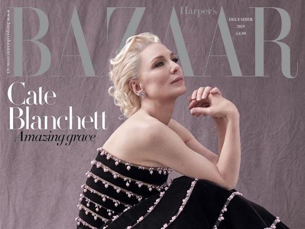 Cate Blanchett covers Harper's Bazaar // December 2019