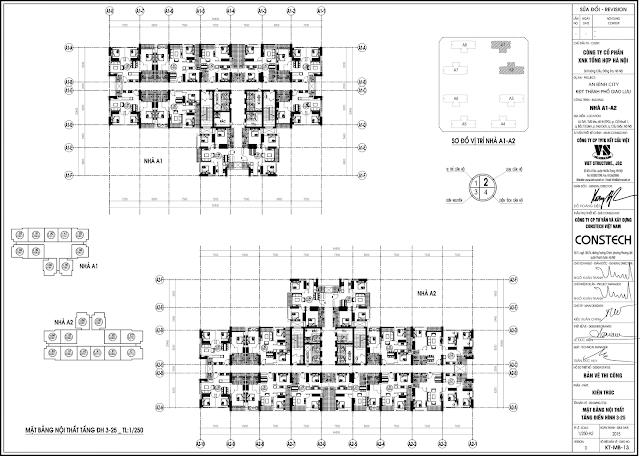 mặt bằng tòa A1 - A2 dự án an bình city