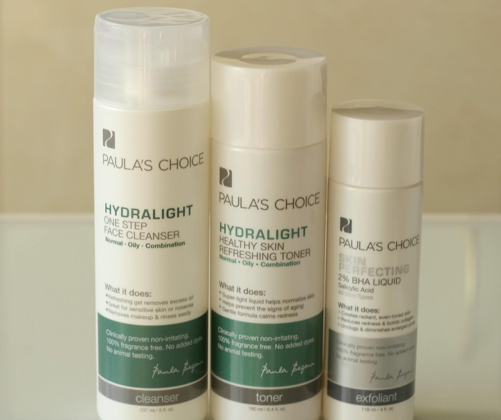 Paula's Choice Hydralight One Step Face Cleanser Healthy Skin Refreshing Toner Skin Perfecting 2% BHA Liquid