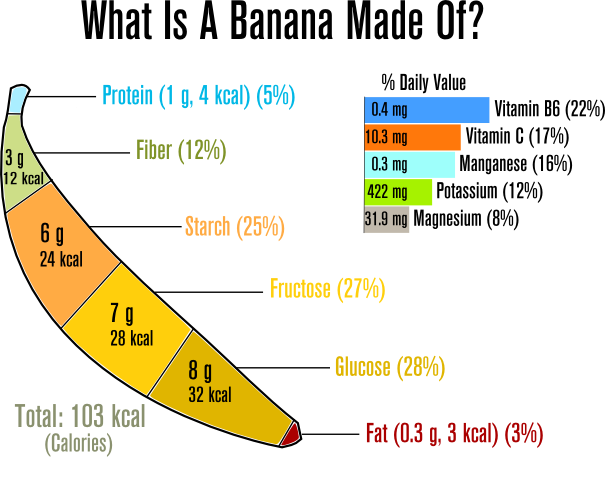 How Many Grams Of Fat Are In A Banana 15