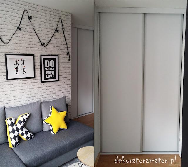 pokój nastolatka, pokój dziecęcy, pokój młodzieżowy, pokój chłopięcy, loft, styl industrialny