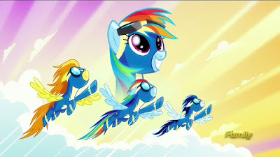Rainbow Dash and the Wonderbolts poster