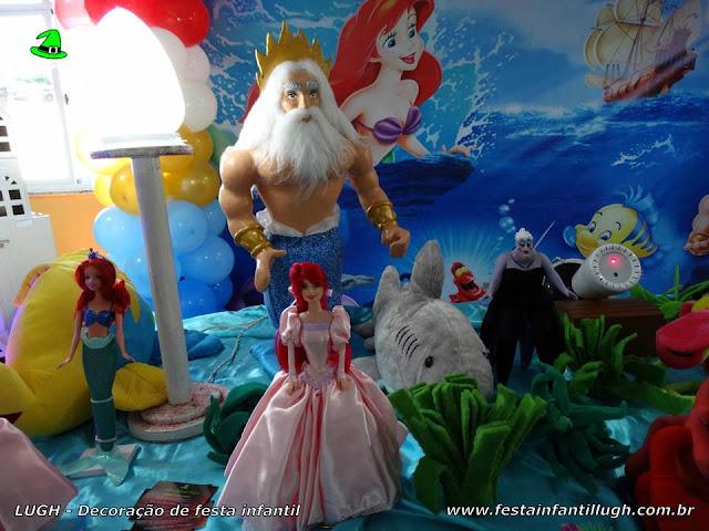 Mesa temática festa A Pequena Sereia - Decoração infantil