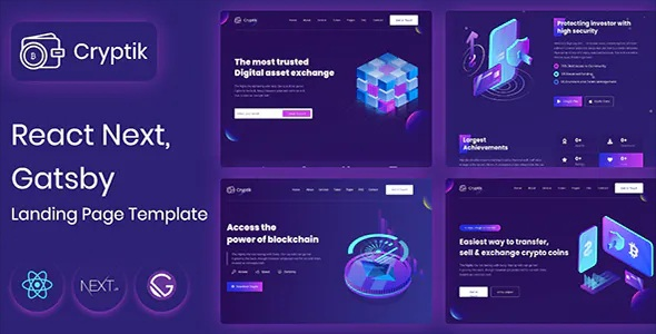 Crypto Currency & ICO React landing Page Template