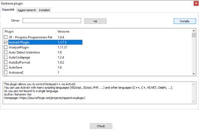 Come installare plugin su Notepad++