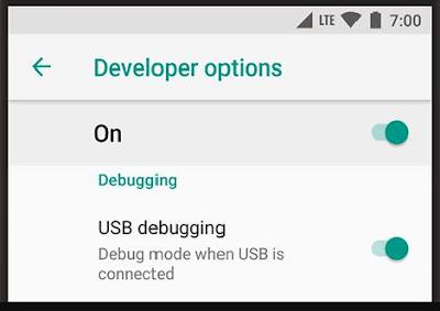 Aktifkan USB Debugging Pada Smartphone