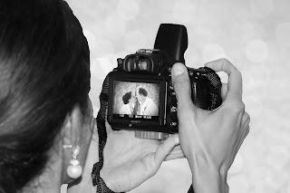 Ein Liebespaar auf dem Display einer Kamera