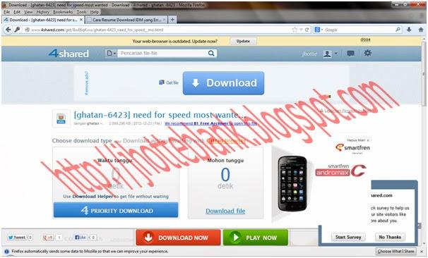 cara meresume kembali download idm yang error