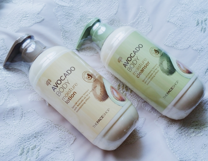 faceshop avocado body moisture lotion cleanser