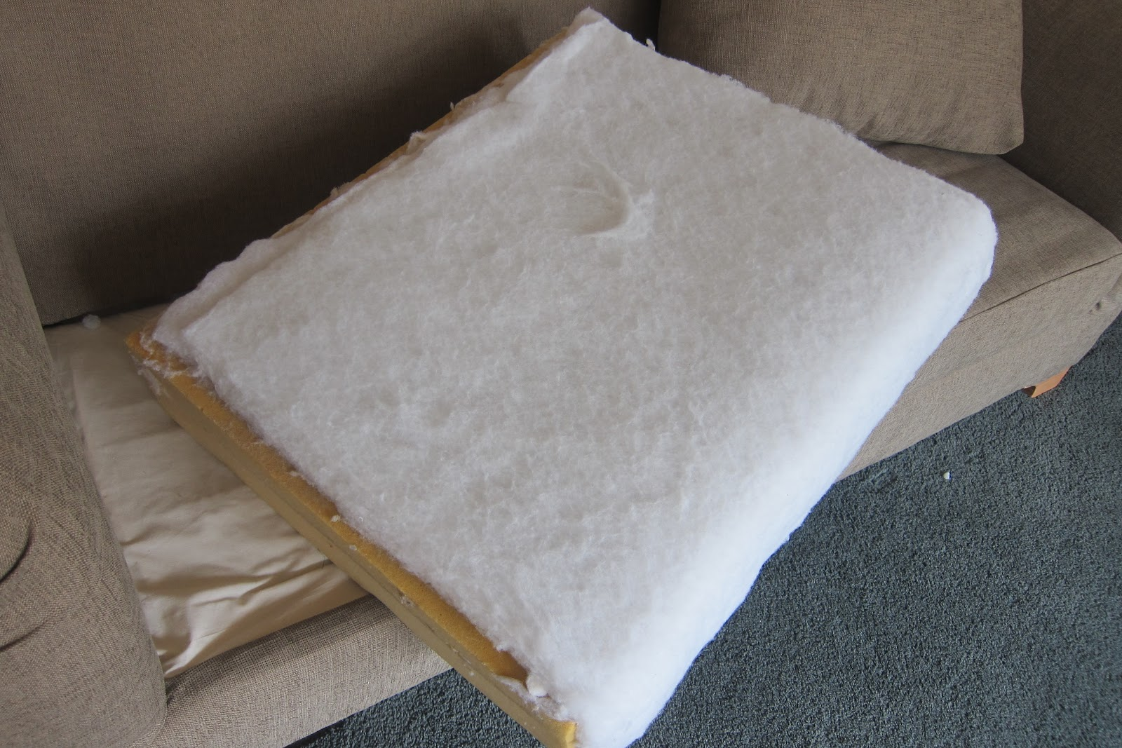 how to make sofa cushions harder goetz replica do it yourself divas diy strip fabric from a couch and