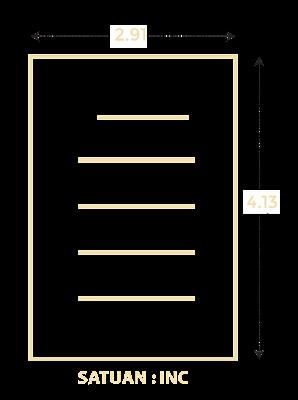 Ukuran kertas A7 dalam inchi