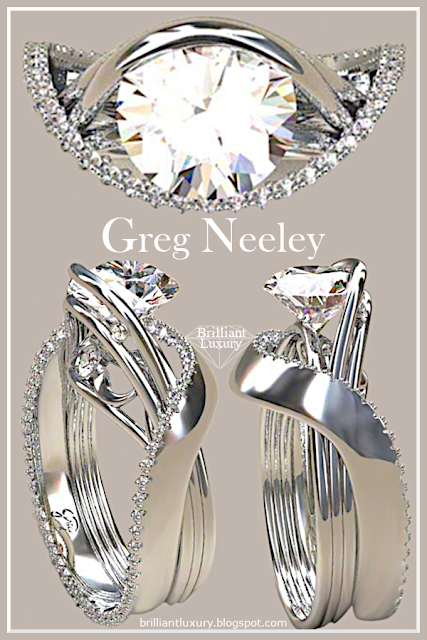 Greg Neeley White Austin 1 Diamond Ring #jewelry #brilliantluxury