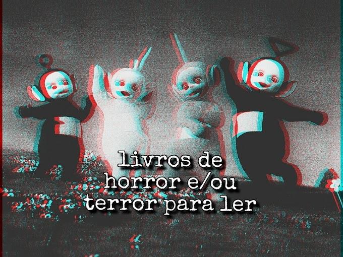Livros de Terror/Horror para ler