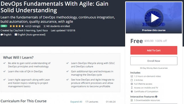 [100% Off] DevOps Fundamentals With Agile: Gain Solid Understanding| Worth 99,99$