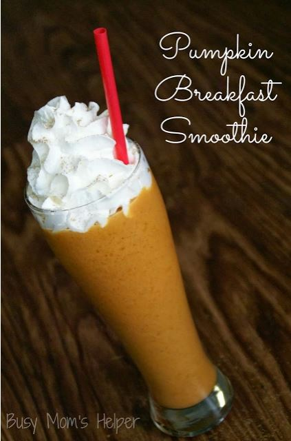 Pumpkin+Breakfast+Smoothie 27 Amazing Apple and Pumpkin Recipes for Fall 76