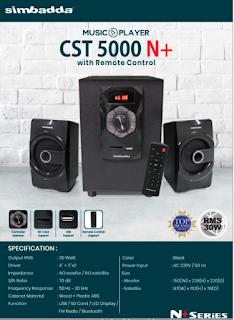 Simbadda CST5000N+ Speaker Aktif Dengan Suara Nendang