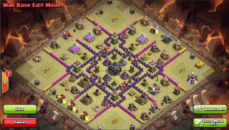 Base War Th 9 Paling Susah Ditembus 9