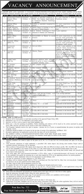 Public-Sector-Organization-PO-Box-722-Peshawar-Jobs-2021