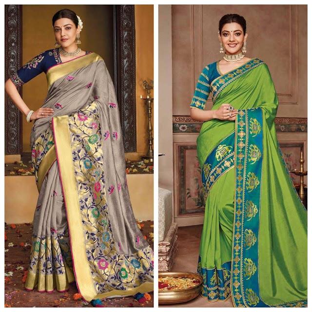 Kajal Light Green Silk Saree