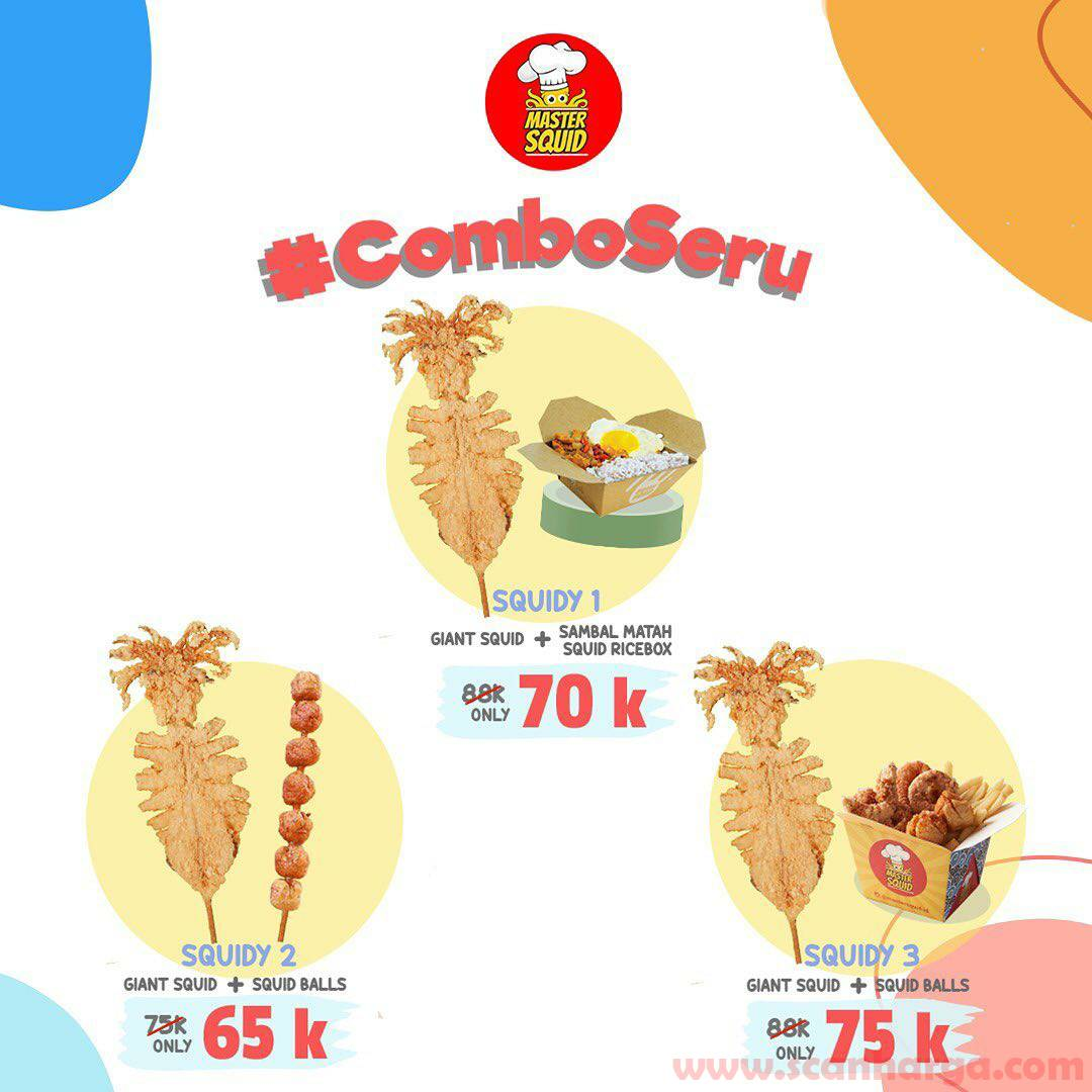 Promo Master Squid COMBO SERU harga mulai Rp 65.000 pesan antar via Grabfood