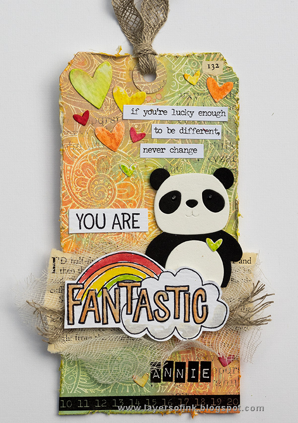 Layers of ink - Distress Oxide Resist Background by Anna-Karin with SSS Picture Book Panda and STAMPtember stamps