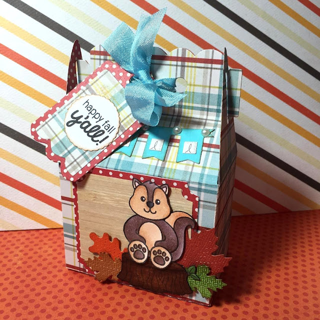 Sunny Studio Stamps: Woodsy Creatures Chipmunk Gift Box by Sarah Corkrey-Elliott