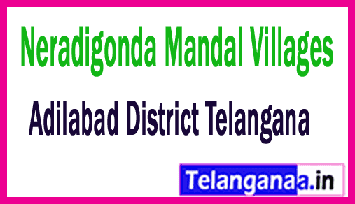 Neradigonda Mandal and Villages in Adilabad District Telangana