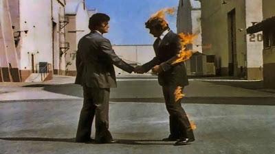 "Pink Floyd's ""Wish You Were Here"" LP album art"