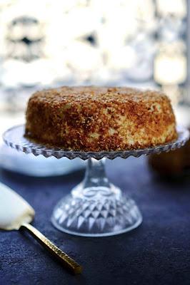 dessert aux poires , mousse légère , pralin , praliné , recette gourmande de saison