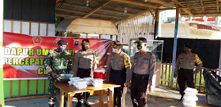 Polres Lingga bersama TNI Kembali buka dapur Umum dalam Rangka Penanganan Covid-19