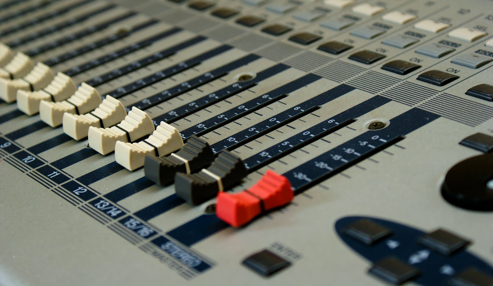 Stock photo of a mixing desk